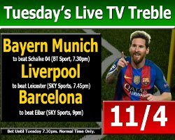 TuesdayLiveTVTreble1909